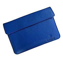 i-KitPit : Genuine Leather Pouch Case For HP Slate 7 HD 4G (BLUE)