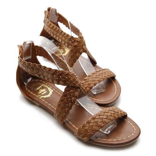 Ollio Womens Shoes Braided Sandals