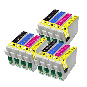 12 Compatible Epson Ink Cartridges Replace Epson T1285. 3x T1281 Black, 3x T1282 Cyan, 3x T1283 Magenta, 3x T1284 Yellow