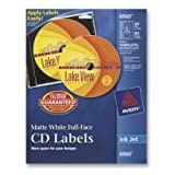 AVERY DENNISON AVERY CD LABELS MATTE WHITE FULL FACE LABELS / 8960 /