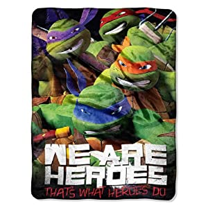 Northwest The Northwest Company Nickelodeon's TMNT We Are Heroes Micro Raschel Blanket, 46 by 60-Inch at Sears.com