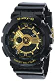 Baby G World Time Shock Resistant Plastic Resin Case and Bracelet Gold Tone Digital-Analog Dial