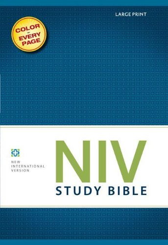 NIV Study Bible, Large Print, Hardcover, Red Letter Edition
