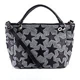 FEYNSINN Shopper WILLOW - Handtasche groß - Henkeltasche echt Filz grau und schwarz