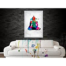 Poster | Poster For Rooms Buddha Poster Water Color Digital Poster Art- Improve Your Home Wall, Perfect Gift,...
