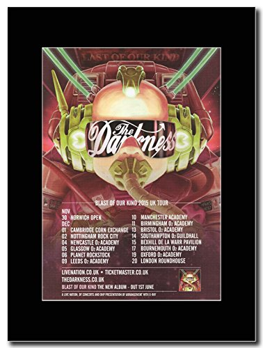 The Darkness-Last del tipo UK Tour date 2015 Magazine Promo su un supporto, colore: nero