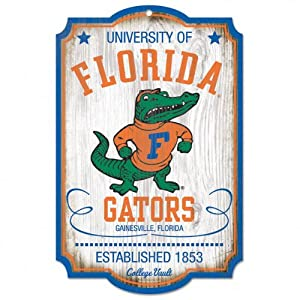 Buy NCAA College Vault Florida Gators 11-by-17 Wood Sign by WinCraft