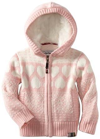 Triple 5 Soul Little Girls' Karen Sweater, Pink, 4