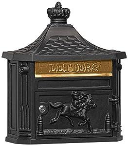 Salsbury Industries 4460BLK Victorian Surface Mounted Mailbox, Black