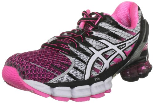 ASICS Women's Gel Kinsei Black/White/Neon Pink Trainer T189N 9001 8 UK