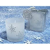 Winter Wonderland Frosted Glass Votive Candle C1029 Quantity Of 1