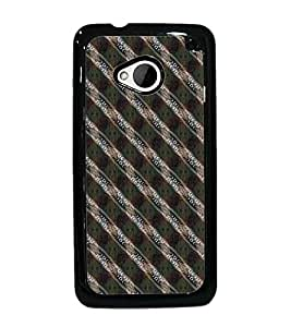 PrintDhaba Pattern D-5262 Back Case Cover for HTC ONE M7 (Multi-Coloured)