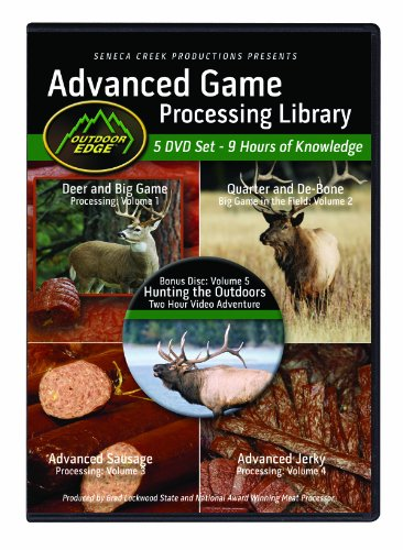 Outdoor Edge Knives AP101 5 DVD Set Game Processing Library