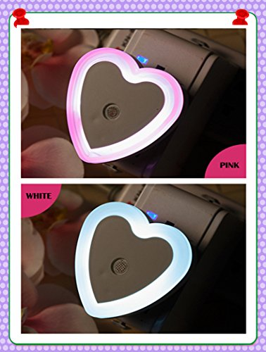 How Nice Led Night Light Electric Induction Plug Children/Baby Incandescent Lamp Night Bedside Lamp Christmas Colorful Lamp Round Favorites Compare Baby Night Light Kids Sensor Wall Small Night Light For Baby Night Christmas Party (Heart-Shape, White+Red)