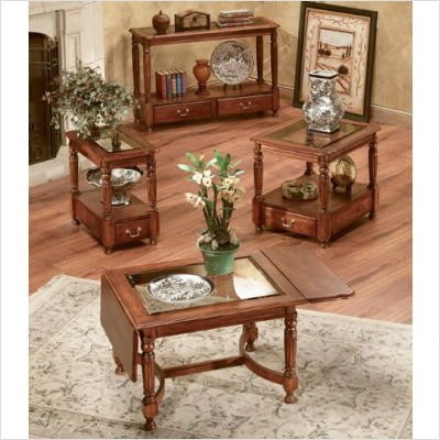 Peters-Revington Bordeaux Drop-Leaf Cocktail Table Set Series Bordeaux Drop-Leaf Cocktail Table Set in Cherry