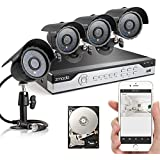 Zmodo 4CH 960H DVR 4x600TVL Day Night Outdoor Indoor CCTV Surveillance Home Video Security Camera System 500GB Hard Drive Scan QR Code Easy Remote Access in Seconds
