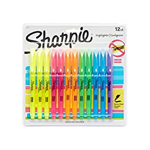 Sharpie Accent Pocket Style Highlighter, 12-Pack, Assorted Colors (27145)