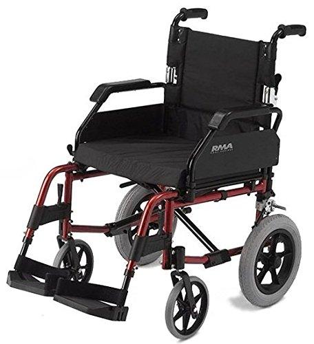 roma-medical-lightweight-aluminium-transit-wheelchair-red