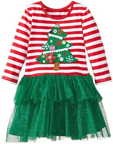 Marmellata Little Girls' Christmas Tree Dress, Multi, 3T