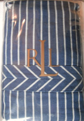 Lauren By Ralph Lauren Cote D'azur Blue Stripe King Sham - Pair 2pc lauren ralph lauren new blue white women s size 10 striped peplum blazer $260