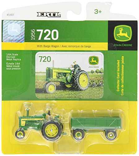 Ertl John Deere 720 Tractor With Wagon, 1:64 Scale