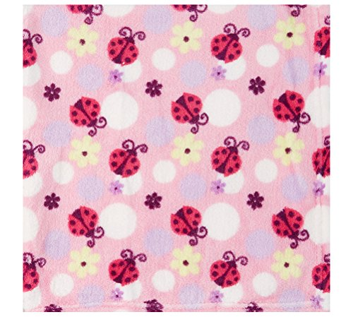 Little Beginnings Ladybug and Flower Soft Blanket