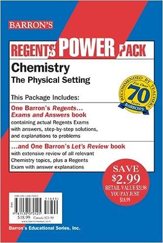 Chemistry--The Physical Setting Power Pack (Regents Power Packs) written by Albert S. Tarendash  M.S.