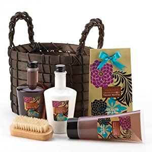 Exotic Fusion Bath Basket Lotion Health Beauty Gift Set