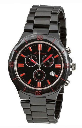 M. Johansson MaconasBR Men's Quartz Black Ceramic Chronograph ISA SWISS Cal.8172. 202 Wrist Watch