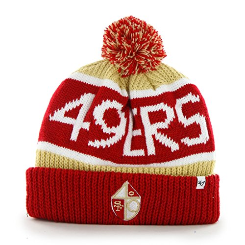 San Francisco 49ers 47 Brand NFL Throwback Calgary Cuffed Knit Hat