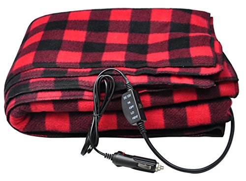 Sports Imports 12V Fleece Heated Electric Travel Blanket (12 Volt Rv Thermostat compare prices)