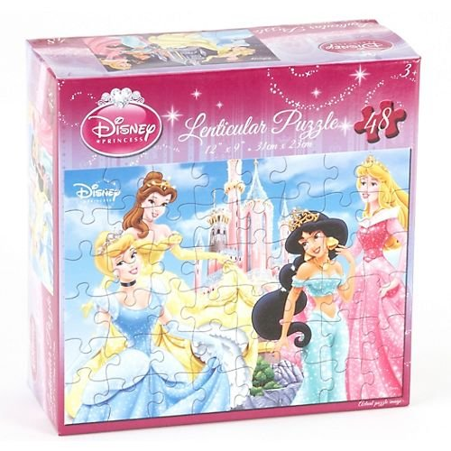 Cheap Cardinal Disney Lenticular Hologram Jigsaw Puzzle 48 Piece – Princess Jasmine, Belle, Cinderella, Sleeping Beauty Outside the Castle (B003GEEWSI)