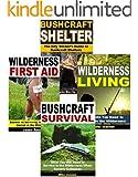Bushcraft 4-Book Box Set: Bushcraft Shelter, Bushcraft Survival, Wilderness First Aid, Wilderness Living