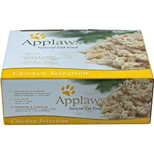 Applaws Katze Dose Multipack Selection mit Hühnchen 12x70g, 1er Pack (1 x 840g)