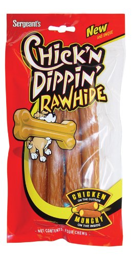 Chick'n Dippin' Rawhide Munchy Sticks, 4-Count