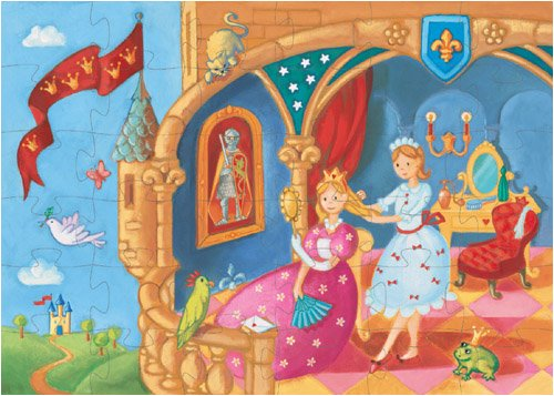 Cheap Fun Djeco The Princess and Her Frog Jigsaw – 36 Piece Rectangular Jigsaw Puzzle (B000GUVG9I)