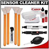VisibleDust EZ Sensor Cleaning Kit for Size 1.6x Digital SLR Cameras with 1ml Liquid vDust Plus & 4 Vswabs + (2) Lenspen + Canon Cleaning Accessory Kit for EOS 60D, 5D, 7D, Rebel T1i, T2i, T3, T3i & T4i