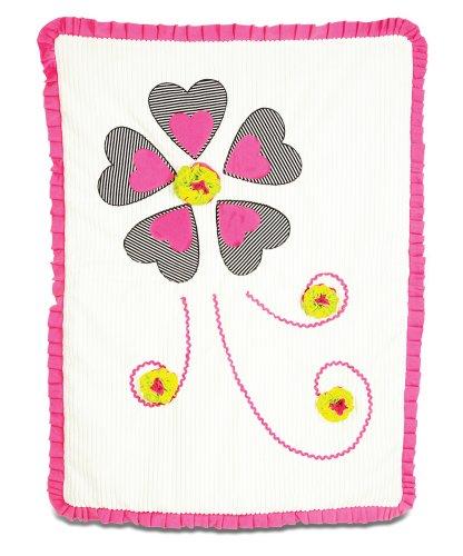 "Pavilion Gift Company Ribbed Chenille Baby Blanket, Sassy Diva, 30"" x 40"""