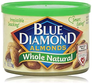 Blue Diamond Whole Natural Almonds, 6 Oz