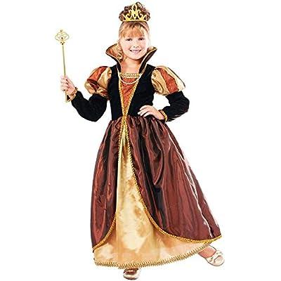 Designer Collection Deluxe Golden Queen Costume Dress, Child Medium