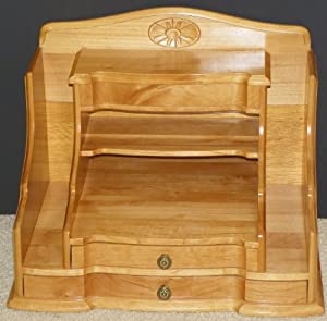 Amazon.com : PAG Office Supplies Wood Desk Organizer ...  Desktop Mail Organizer For Kitchen