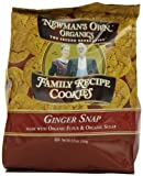 Newmans Own Organics Family Recipe Cookies, Ginger Snap, 6.5-Ounce (Pack of 6)
