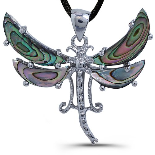 Pearl Shell Pendant - Dragonfly Inspired Design
