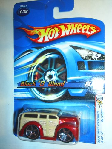 Mattel Hot Wheels 2005 Blings 1:64 Scale Brown block O Wood Die Cast Car #038 - 1