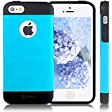 JETech® Gold Super Fit iPhone 5/5S Case for Apple iPhone 5 5S Logo Cut-Out Fits AT&T, Sprint, Verizon, T-Mobile (1- TPU- Blue)