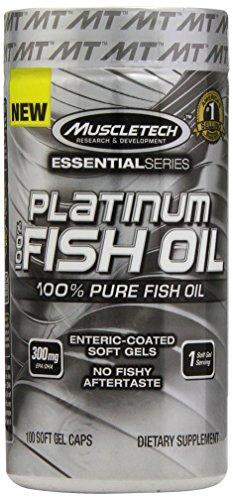 MuscleTech Platinum 100% Fish Oil, Ultra-Pure 100% Fish Oil, 100 SoftGel Caps (Cap Platinum compare prices)