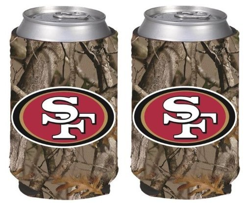 NFL Football Vista Camo Beer Can Kaddy Collapsible Koozie Holder 2-Pack - Pick Team! (San Francisco 49ers) (Camo Can Koozie compare prices)