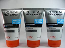New L\'oreal Men Expert White Active Brightening Foam (100ml) Pack of 3