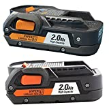 2 Pack of Ridgid ZRR840086 2.0 Ah Compact Battery Certified Refurbished