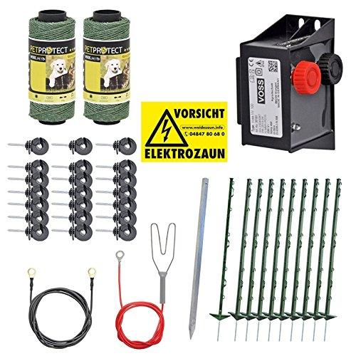 Kit Valla eléctrica para perros pequeños y medianos, set completo 230 V, con pastor eléctrico